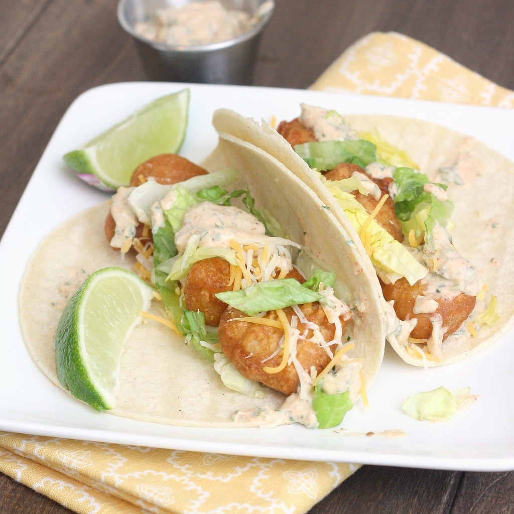Beer battered fish tacos traceysculinaryadventures for Fish taco batter