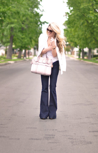 dressed up jeans and white  t | by ...love Maegan