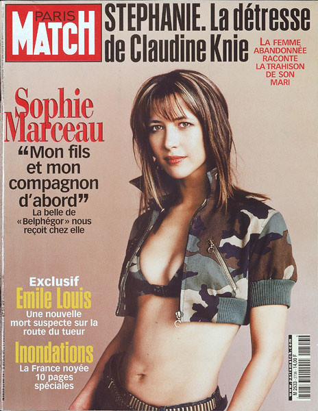 couverture de paris match n 2706 sophie marceau son fils flickr. Black Bedroom Furniture Sets. Home Design Ideas