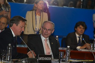 UK Prime Minister David Cameron and President Van Rompuy during the working session at the G20 Summit in Los Cabos, Mexico | by Herman Van Rompuy