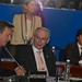 UK Prime Minister David Cameron and President Van Rompuy during the working session at the G20 Summit in Los Cabos, Mexico