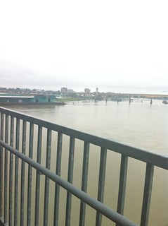 Fraser River from the Canada Line bridge | by sillygwailo