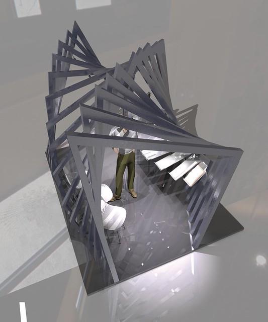 Cr ation d 39 un stand pour le concours cultur 39 acier 4 me for Architecture interieur formation