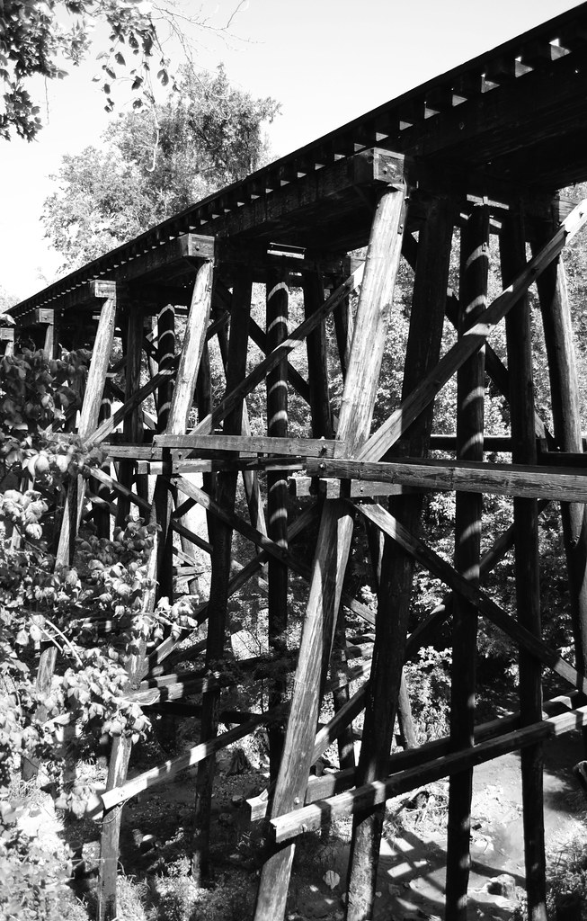 Trestle on Abandoned Railroad Right-of-Way through Brenham ...