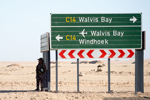 Security near road sign, Namibia | Flickr - Photo Sharing!