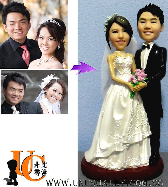 Personalized Figurine Wedding Cake Toppers