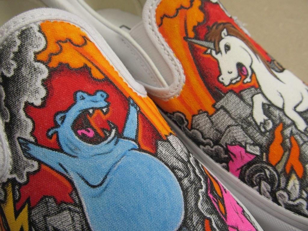 6b1dcddabf27 Hippo   Unicorn Custom Vans Slip-ons