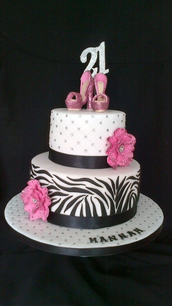 Zebra bling shoe cake Sorry to be repetitive but ...