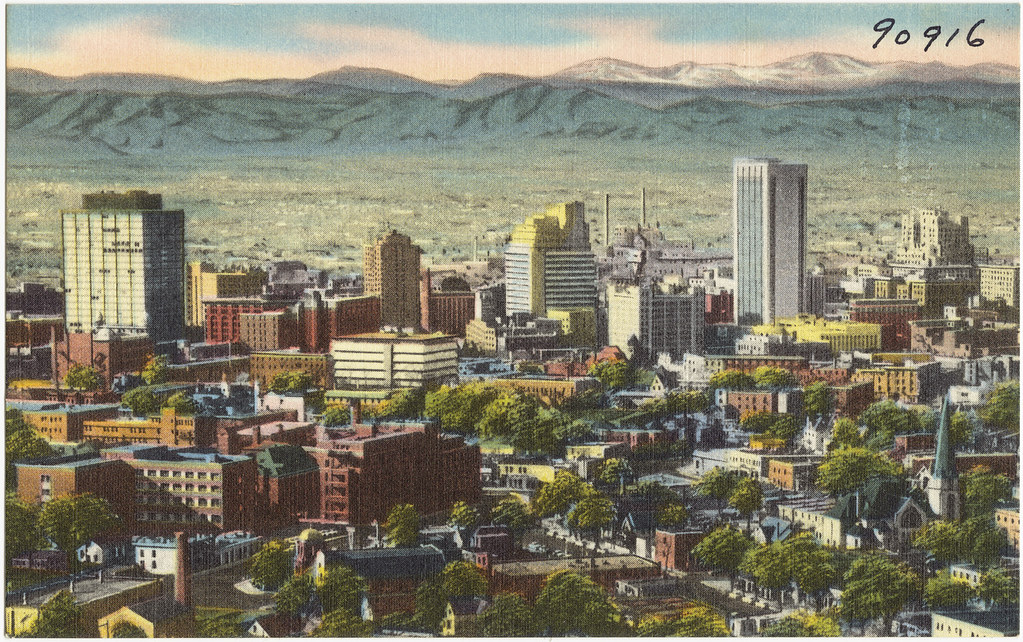 Panorama of mile high Denver, Colorado, metropolis of the … | Flickr