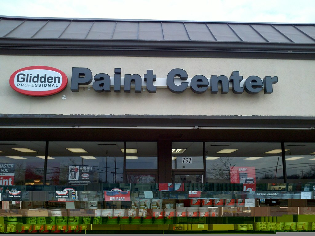glidden professional paint center grove court shopping