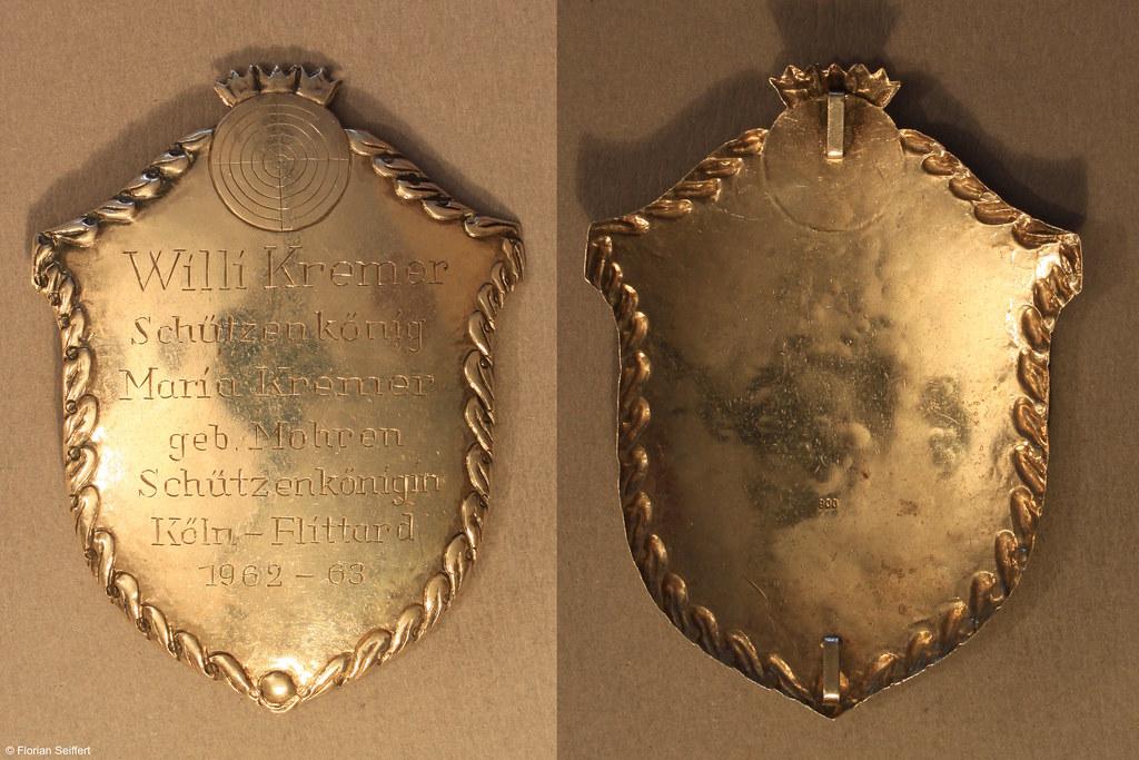Koenigsschild Flittard von kremer willi aus dem Jahr 1962