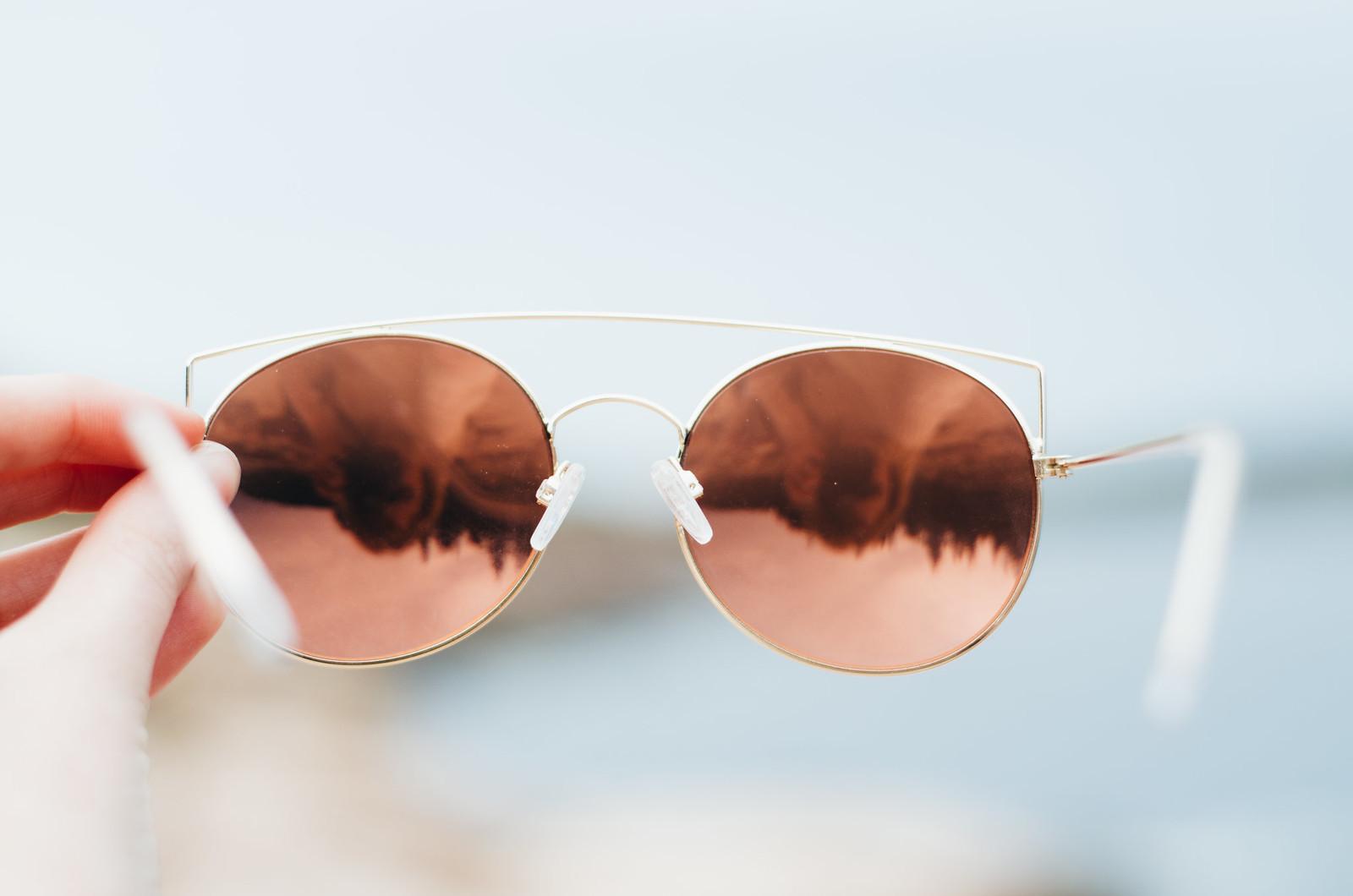 Rose Gold Cat Eye Brow Bar Sunglasses on juliettelaura.blogspot.com