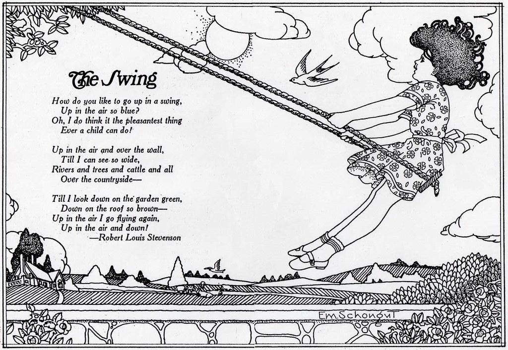 Image result for pen ink children swings