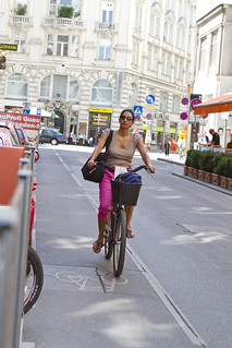 pink trousers | by Vienna Cycle Chic