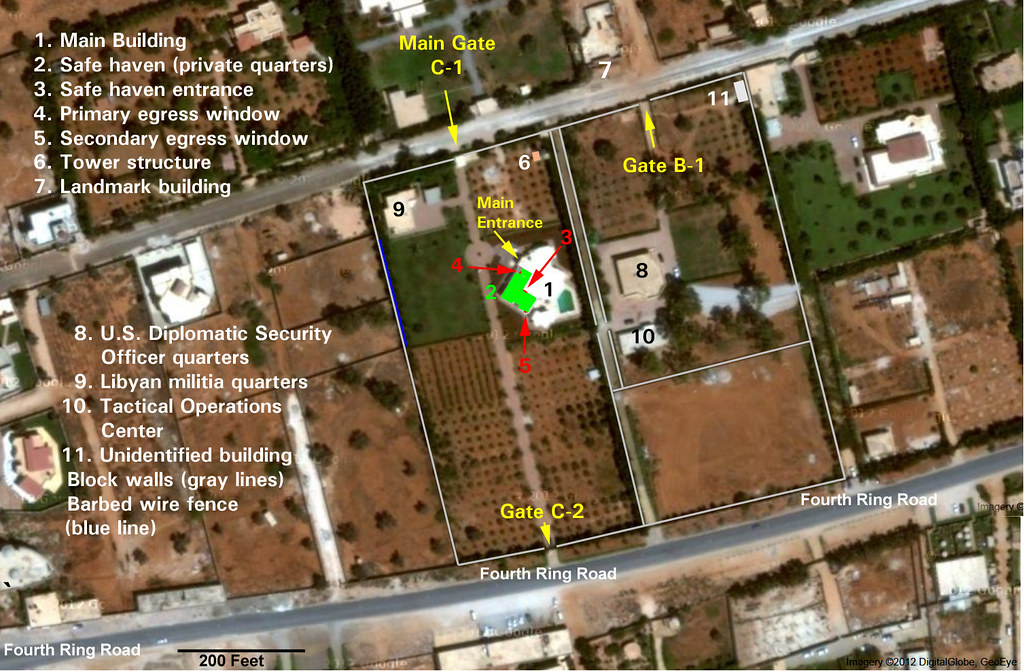 US Consulate Benghazi Libya This map goes with my YouTu Flickr