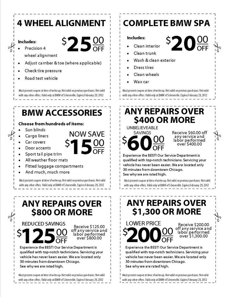 Bmw of sudbury service coupons