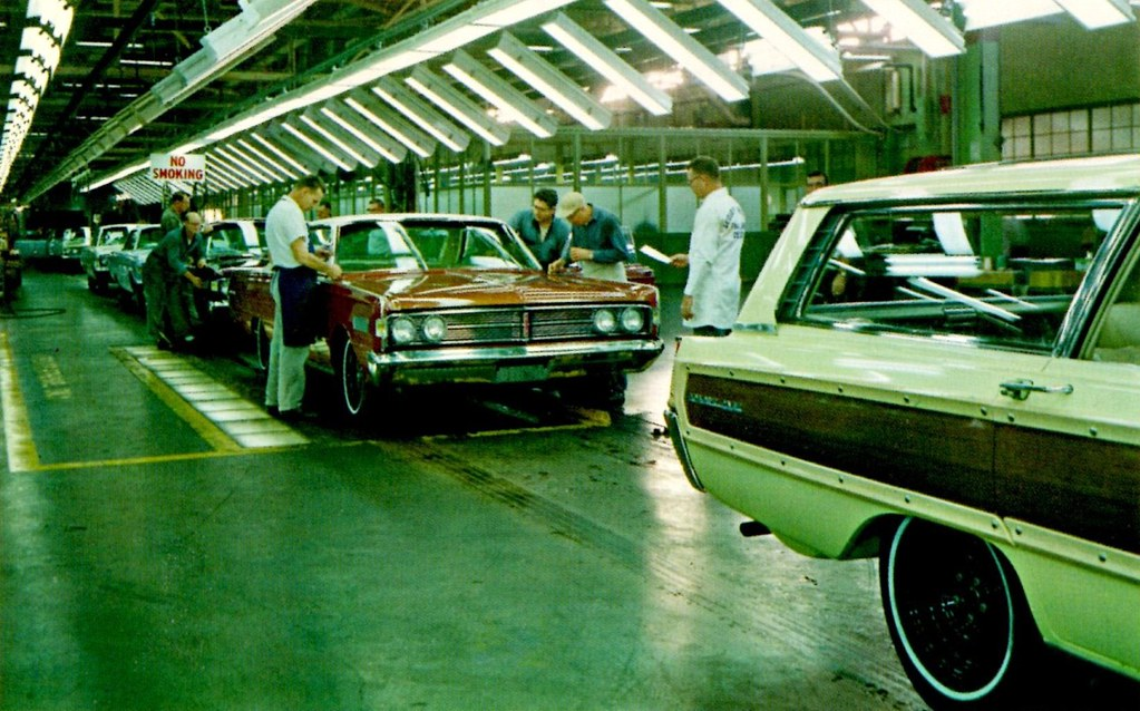 1966 Mercury Assembly Line At Ford S St Louis Assembly Pl