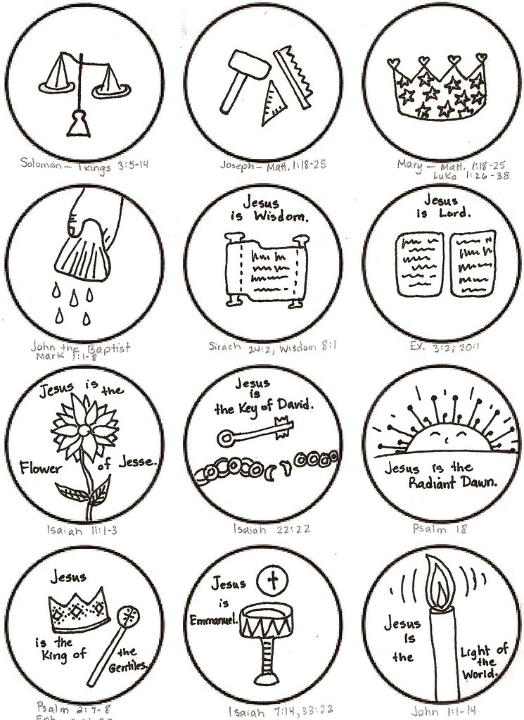 jesse tree coloring pages - photo#7
