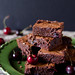 roasted cherry brownies