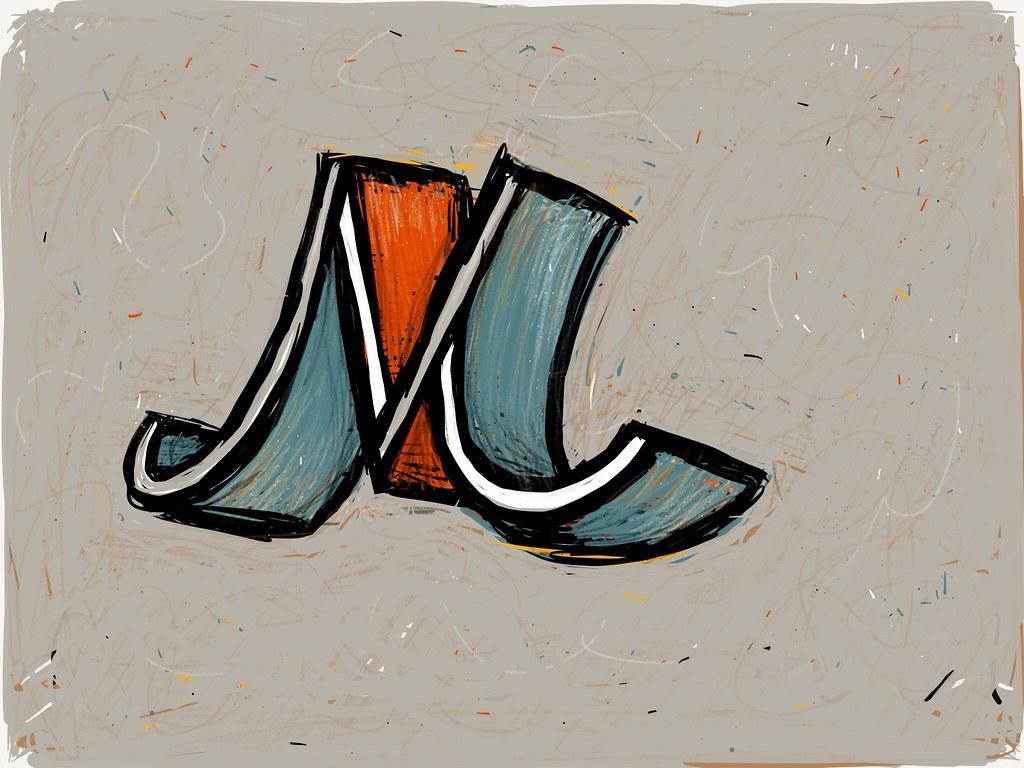 M from Sunflower Alphabet Cross Stitch