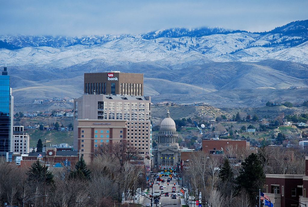 Boise Morning In March Downtown Boise On A March Morning