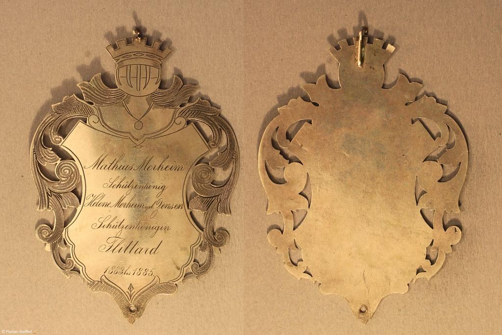 Koenigsschild Flittard von merheim mathias aus dem Jahr 1883