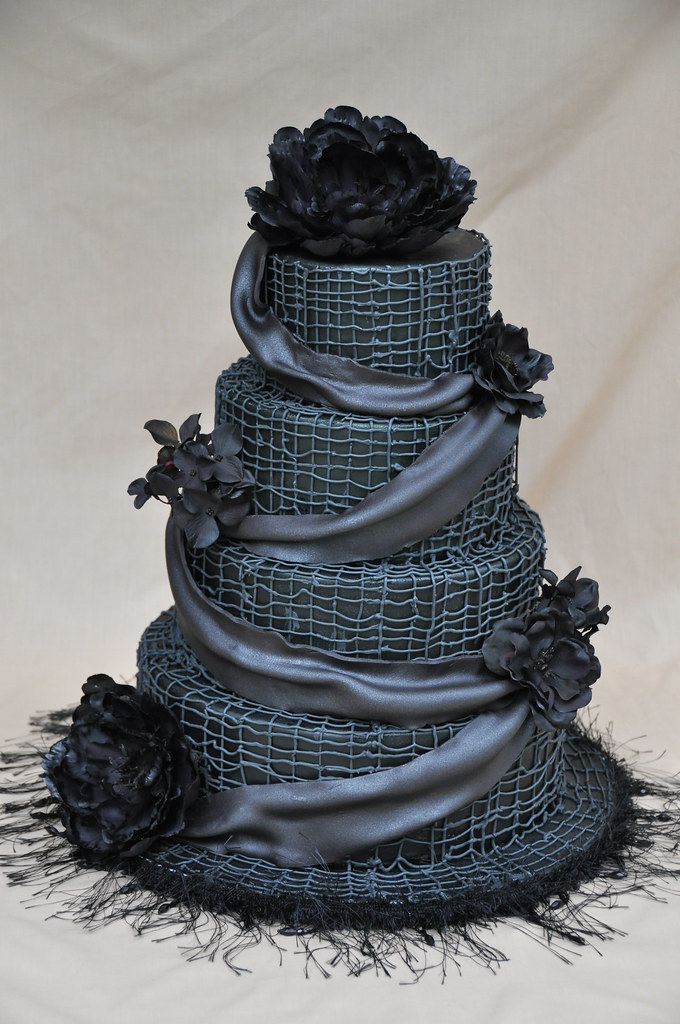 black wedding cake images black wedding cake another cake i did quite a while ago 11880
