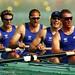 Steve Redgrave and the British rowing team at Sydney 2000. Photo: Ross Kinnaird/ALLSPORT