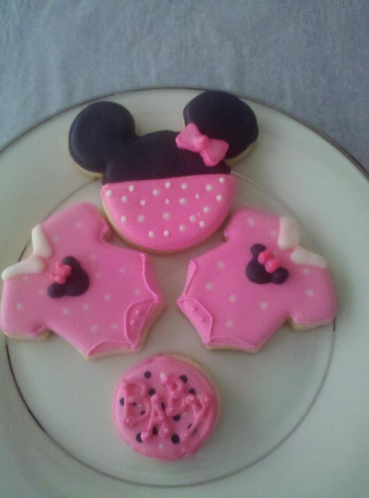 Baby Shower Cookies.. Minnie Mouse Theme
