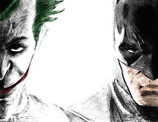 Batman Joker Sketch | A Pencil Sketch I Did And Enhanced In U2026 | Flickr - Photo Sharing!