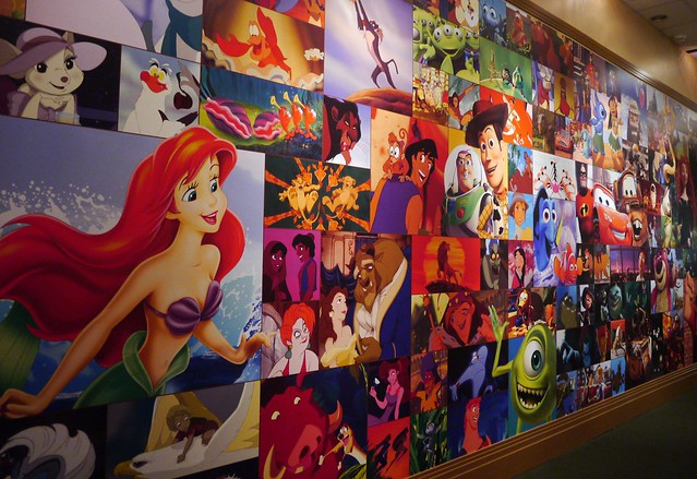 Disney mural of largeness flickr photo sharing for Disney world mural