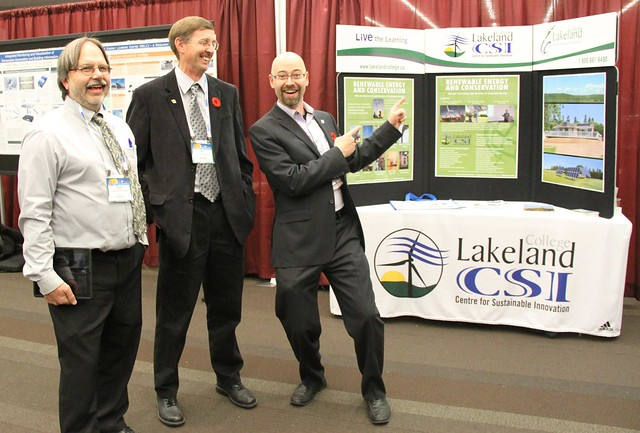 CanSIA Solar West Trade Show - Dr James  Sandercock of NAIT's Alternative Energy program and folks from competitor Lakeland College