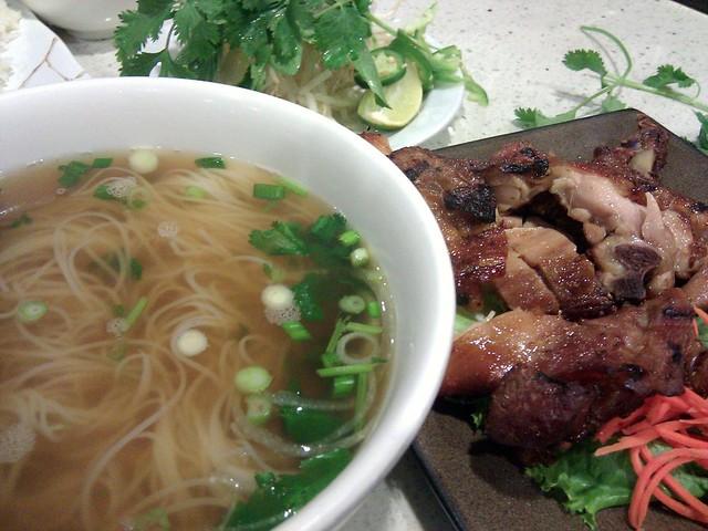 Pho Ga Quay Chao (Five Spice Chicken Noodle Soup) $8.95 | Ben Tre ...