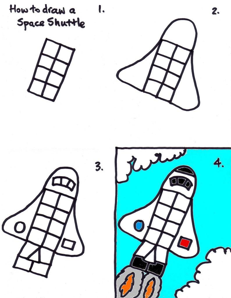 drawing a space shuttle kidz art club lesson at church tod u2026 flickr
