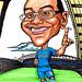 Chelsea Football fan caricature