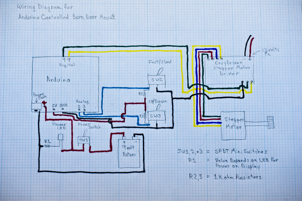 arduino controlled barn door project wiring diagram flickr. Black Bedroom Furniture Sets. Home Design Ideas