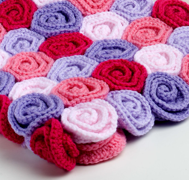 Free Crochet Pattern Rose Field : Crochet Baby Blanket Field of Roses Flickr - Photo Sharing!