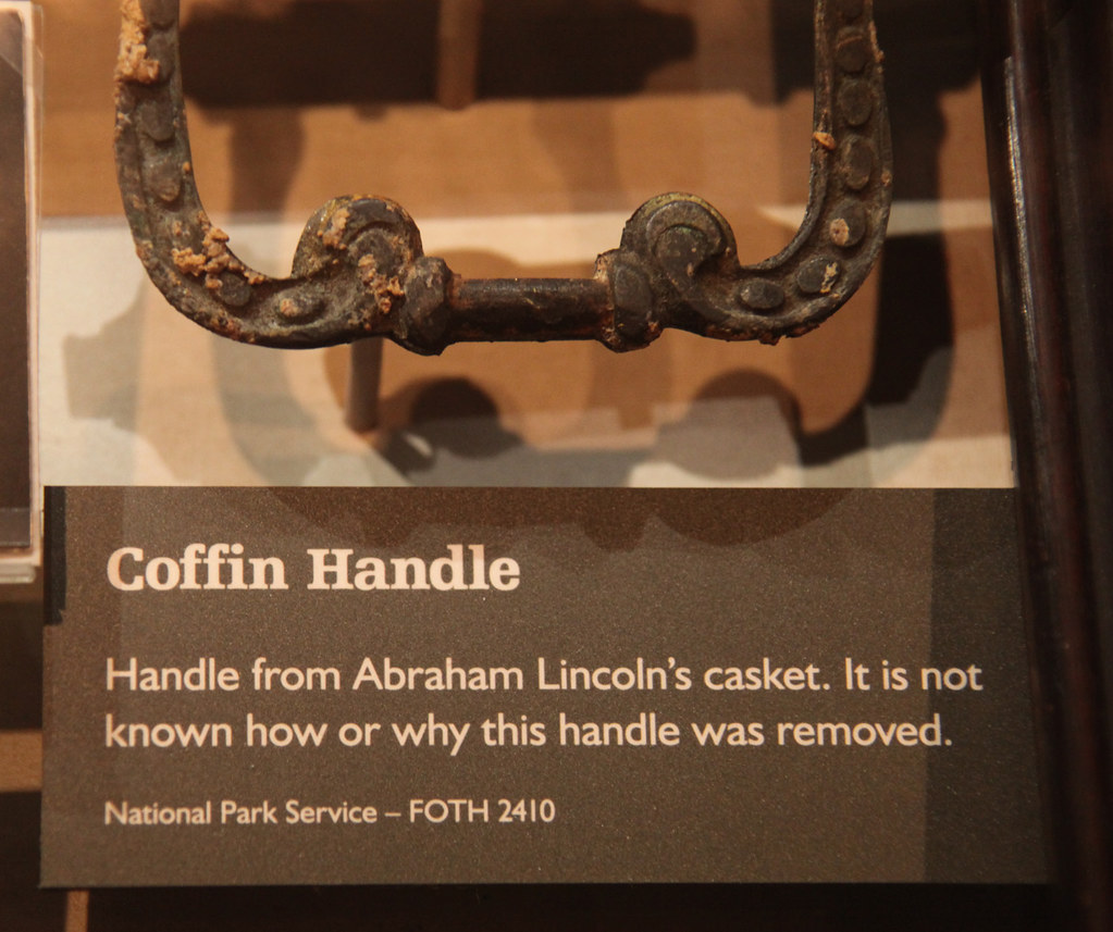 Lincoln Coffin Handle Abraham Lincoln Assassination Muse