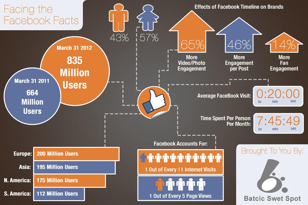 Facebook infographic 2012