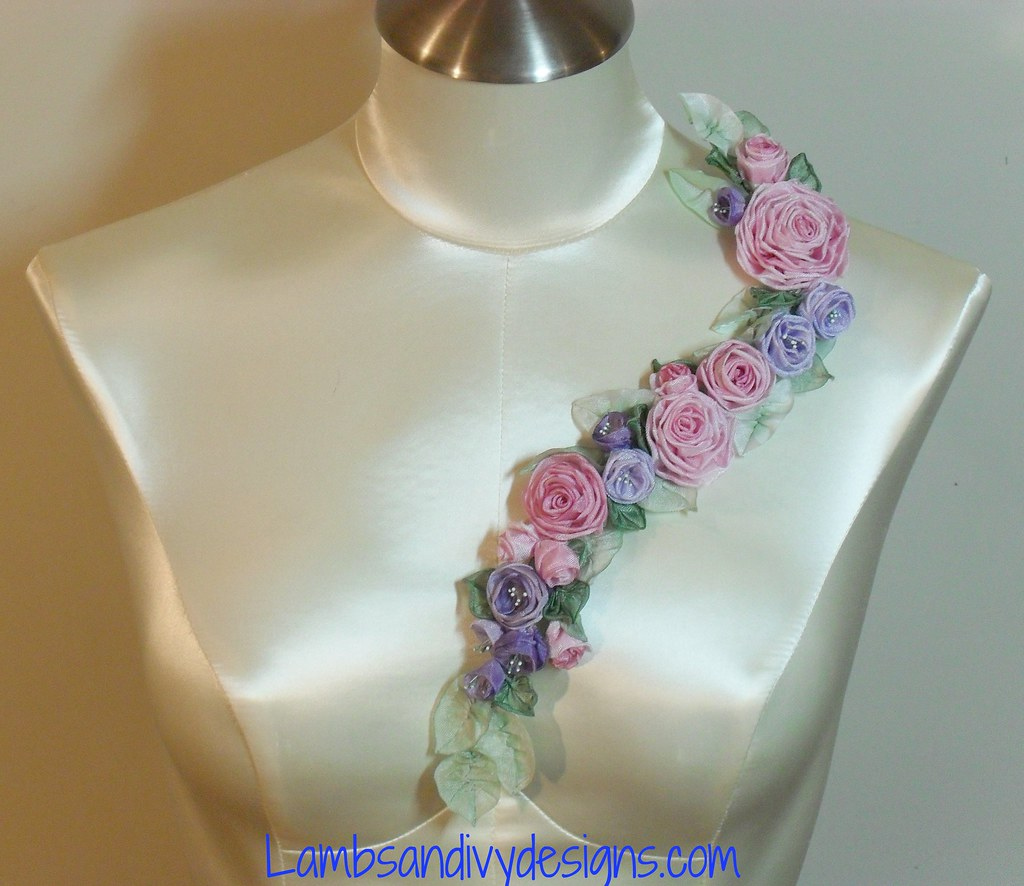 French ribbon work garland