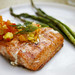 salmon with pineapple apricot and dill