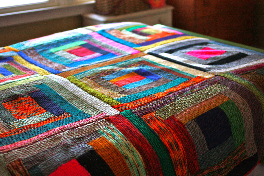 Log Cabin Scrap Blanket For The Past Two Years I Ve Been