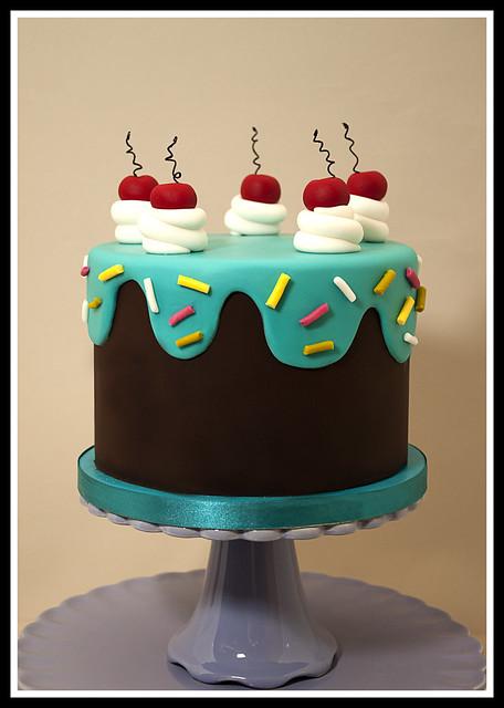 Drippy Icing 50th Birthday Cake Flickr Photo Sharing