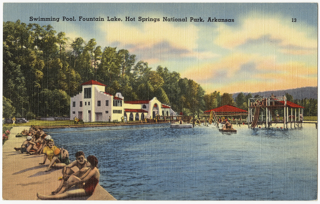 These 55 vintage arkansas postcards are a trip through time for Public swimming pools in little rock ar