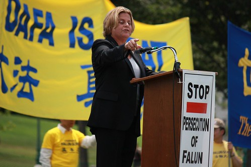 Chairman Ros-Lehtinen speaks at Falun Gong rally | by House Foreign Affairs Committee Republicans