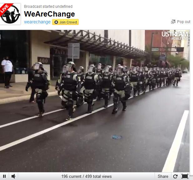 RNC Wearechange Riot Police line