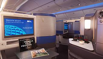 United Polaris seat view (United)
