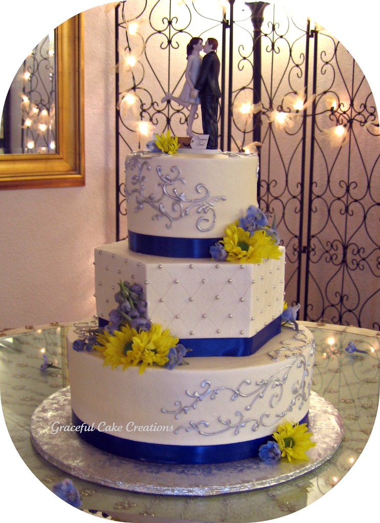 Wedding Cakes Light Blue And White