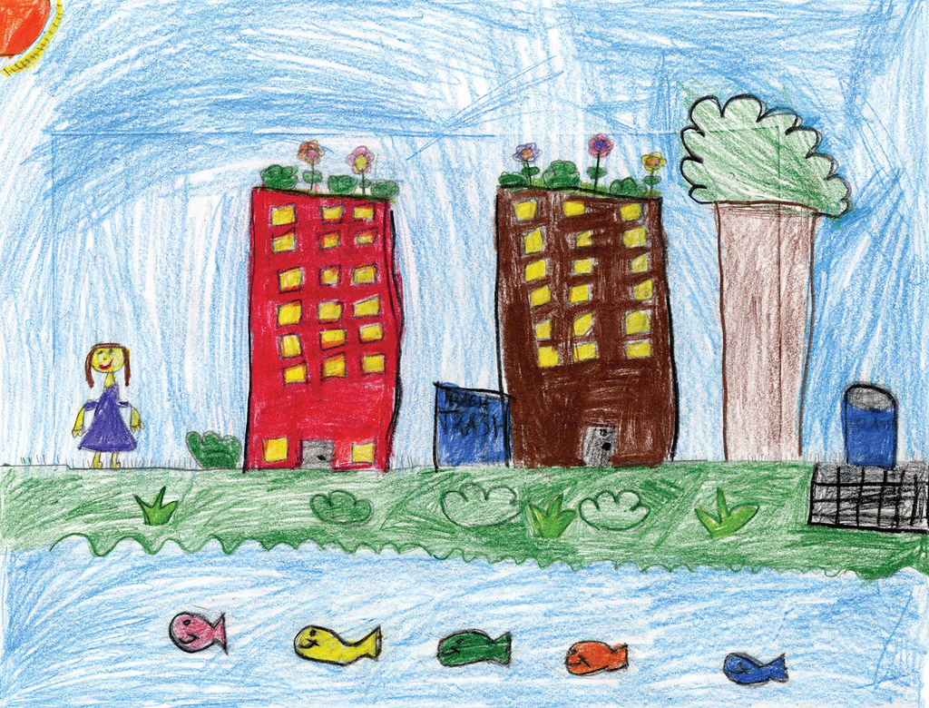 green city clean waters art contest 2nd place kindergar flickr. Black Bedroom Furniture Sets. Home Design Ideas