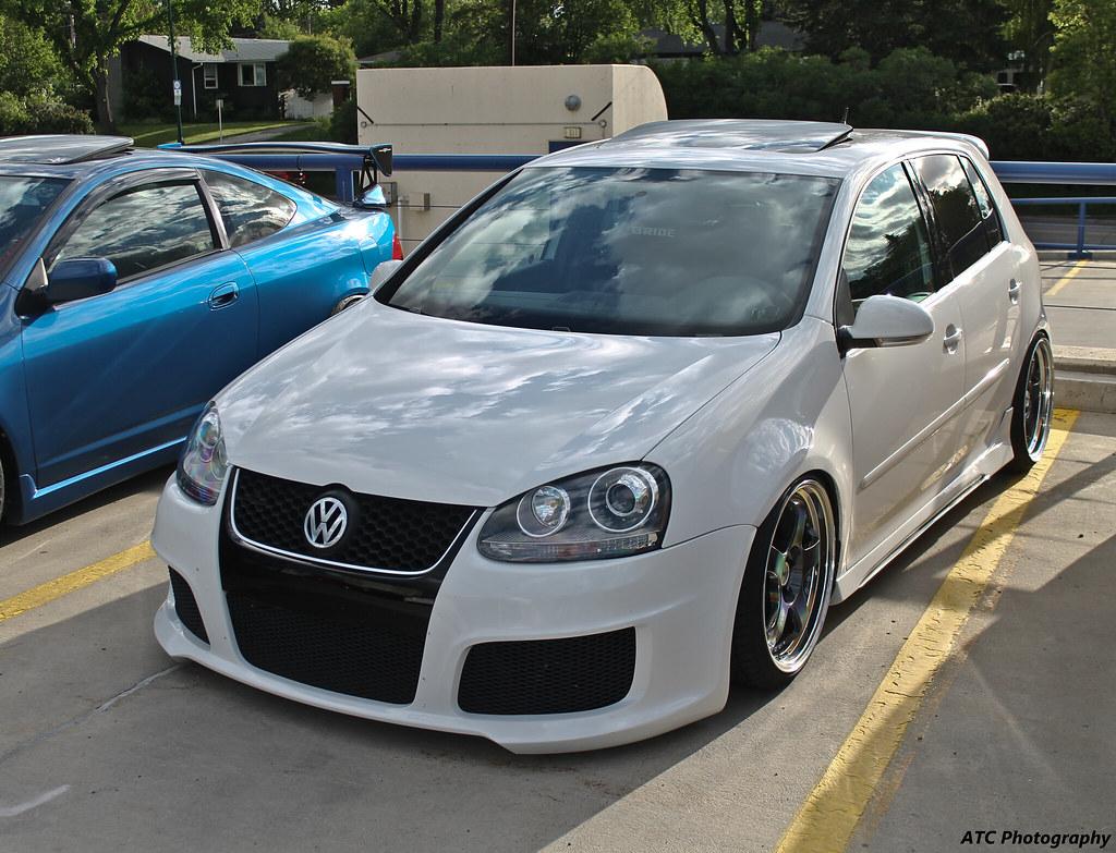 Golf 5 gti white rear